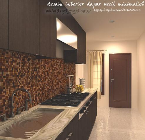 desain interior dapur kecil minimalist 1